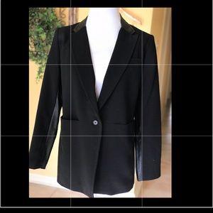 Premise Studio Faux Leather Detail Jacket Sz 10P